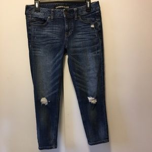 Express Tapered Boyfriend Low Rise Jeans